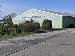 Tennishalle - Ansicht von der Ostseite©Tennisverein Stolzenau e. V.